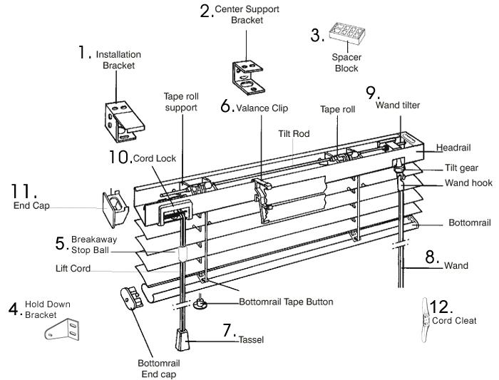 Center Support Bracket 1 Csb 01 Shang Hui Blind Parts